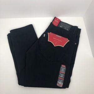 Levis 512 mens jeans warp stretch black 31x32 NWT